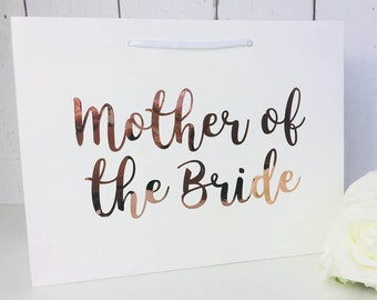 Rose Gold Mother of the Bride Gift •  Rose Gold Mother of the Bride Gift Bag •  Mother of the Bride Bag •  Gift Bags •  Thank You Gift