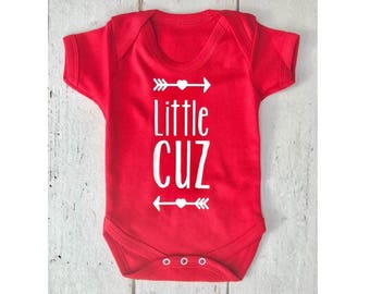 Little Cuz • Baby Vest • Bodysuit • Body Suit • Baby Grow • Baby Clothing • Onesie • Baby Boy • Baby Girl • Gift • Baby Shower • Cousin