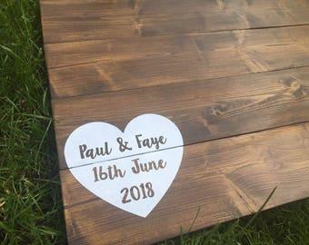 Wedding Guest Book Alternative • Wooden Guestbook • Wooden Guest Board •Wedding Guest Board •Rustic Wedding Decor •Pallet Wood •Wedding Sign