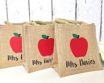 Teacher Gift | Teacher Appreciation Gift | Teacher Lunch Bag | Personalised Teacher Gift | Teacher Gift Bag | Teacher Thank you | TA Gift