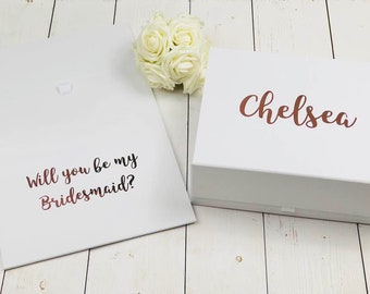 Large Bridesmaid Proposal Box • Will You Be My Bridesmaid • Personalised Bridesmaid Gift Box LG