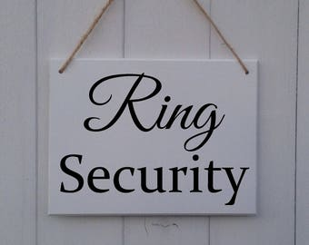 Ring Security | MDF Sign | Plaque | Wedding | Prop | Page Boy | Ring Bearer | Usher | Flower Girl | Bridesmaid | Here Comes The Bride