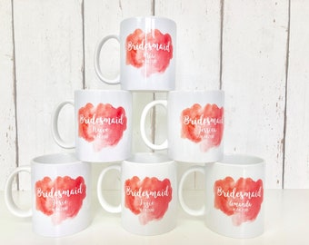 Personalised Bridesmaid Mug | Bridesmaid Mug | Bridesmaid Gift | Personalised Bridesmaid Gift | Mother of the Bride Gift | Personalised Mug