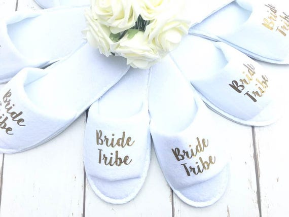 88ed821e1209fc Bride Tribe Bridal slippers Hen Party Slippers Bridal