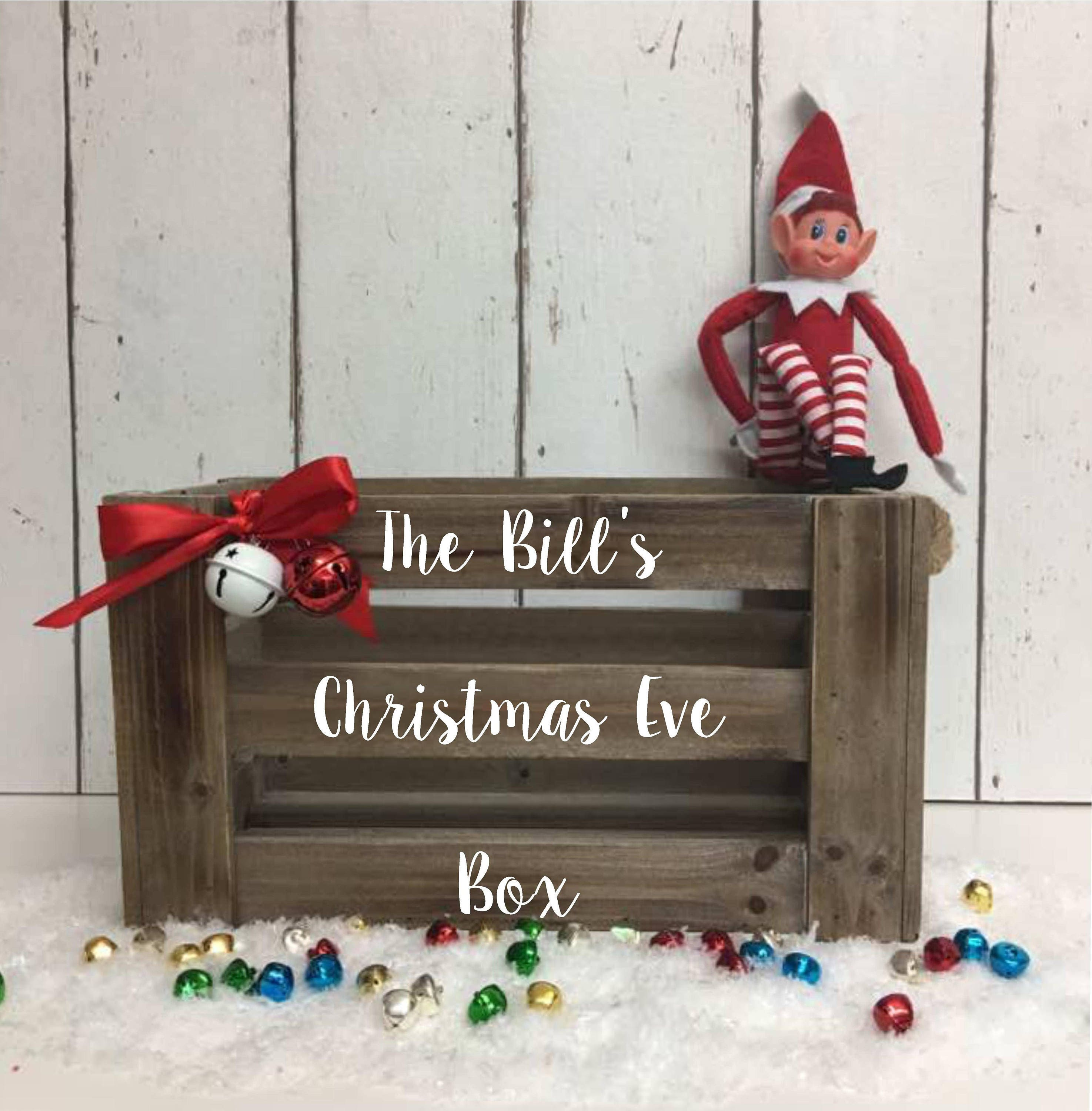 Christmas Eve Crate.Family Christmas Eve Crate Family Christmas Eve Box Personalised Christmas Eve Box Mdf Crate Xmas Eve Box Rustic Christmas