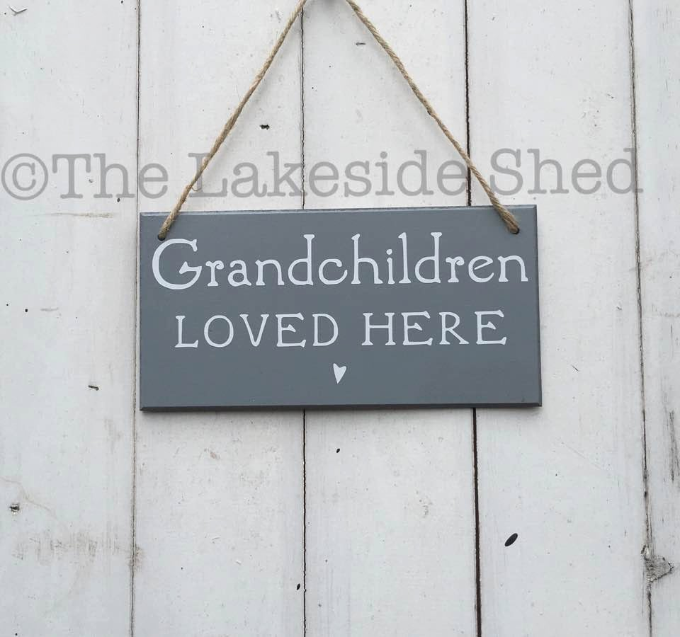 a2d49507c Grandchildren loved here Sign • Grandchildren Sign • Grandchildren Plaque •  Grandparents Gift • Grandmother Gift •Grandad Gift •Gift for Mum