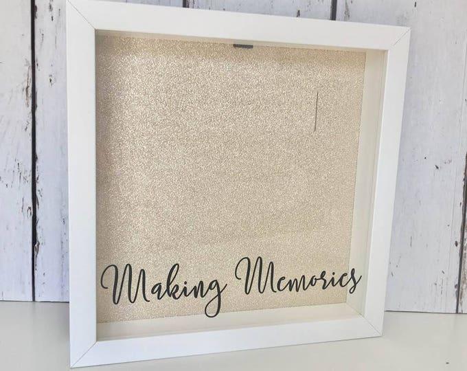 Featured listing image: Making Memories | Ticket Shadow Box | Memory Box | Shadow Box Ticket | Ticket Stub Box | Cinema Stub |Home Decor|Drop Box |Memory Shadow Box