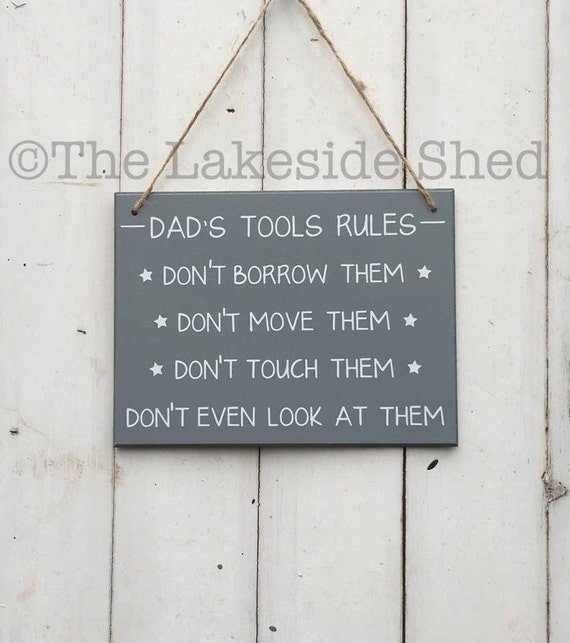 9faf353ba Gift for Dad Dad Gift Funny Dad Sign Dad s Tools