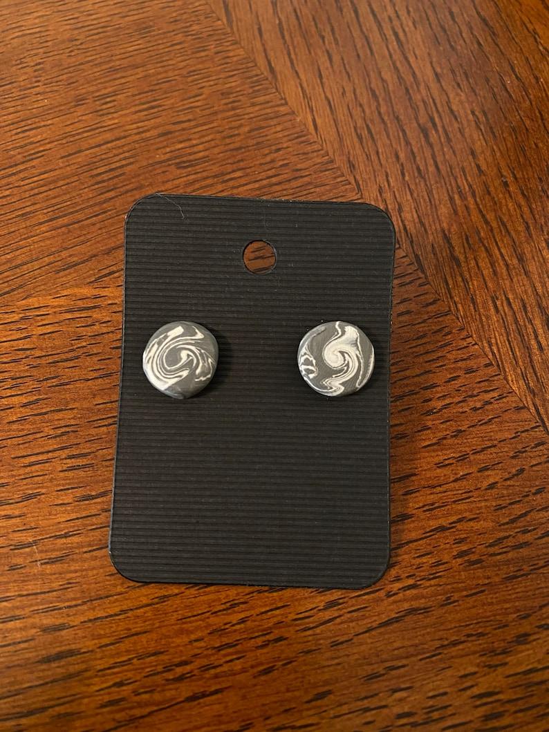 Marbled clay earrings