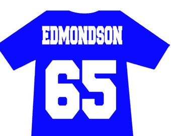 e641d3f29 Jersey Name & Number, Custom Heat Transfer, Personalized iron on, DIY  football jersey, DIY Basket ball jersey, DIY soccer, hockey