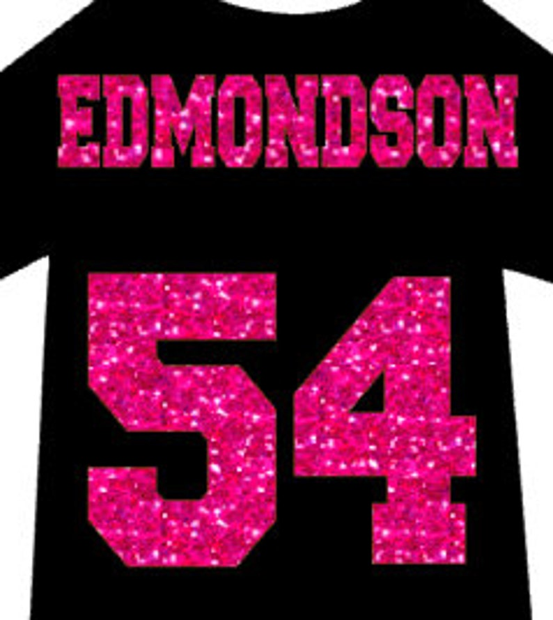 cf23691e Jersey Name & Number Custom Heat Transfer Personalized | Etsy