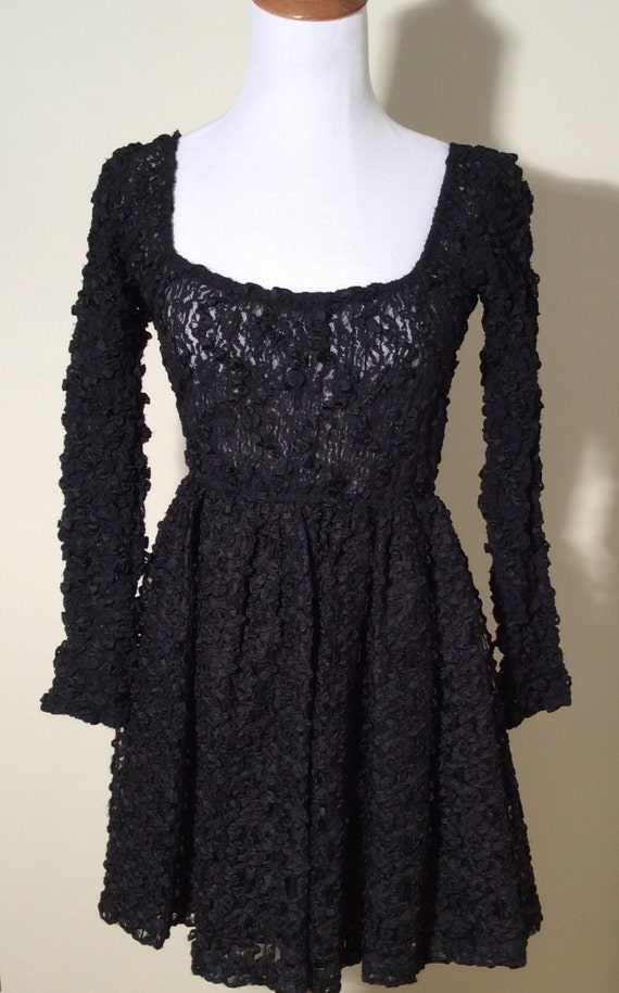 Vintage Early 1990s Collectible Anna Sui Black Lac