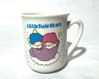 """Vintage 1980s Sanrio """"Little Twin Stars"""" Made in Japan Pristine Minty Coffee Tea Mug/Japanese Hello Kitty and Special Friends Cup of Happy"""