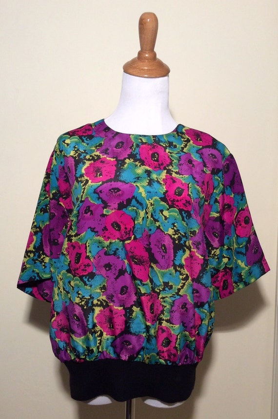 Vintage 1980s Notations Blouse Andy Warhol esque B