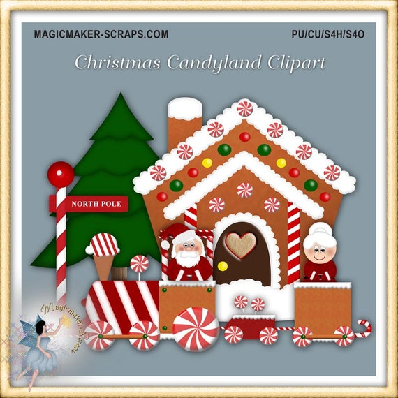 Christmas Candyland Clipart.Christmas Candyland Clipart