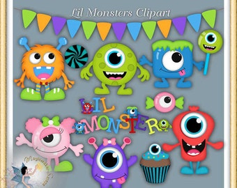 Lil Monsters Clipart