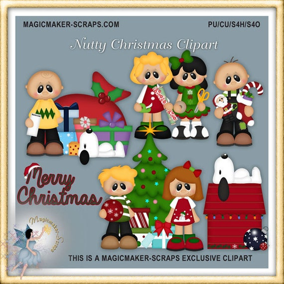 Christmas Holiday Clipart.Nutty Crew Christmas Holiday Clipart