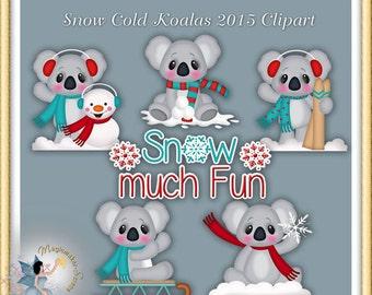 Winter Clipart, Snow Cold Koala 2015