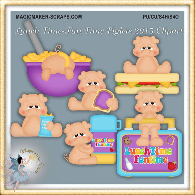 Lunch Box Clipart Pig Lunch Time Fun Time Piglets 2015 Clipart School