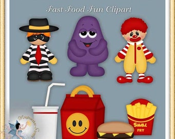 Fastfood Fun Clipart, Birthday, Party