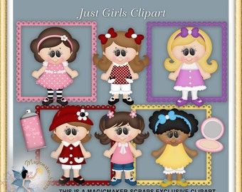 Girl Clipart, Birthday Party, Just Girls