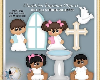 Baptism Clipart, Baby, Christening, Child Dedication, Chubbies