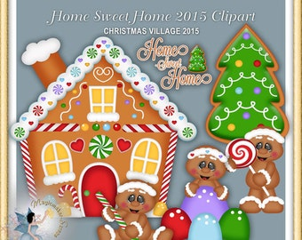 Gingerbread clipart, Christmas, Holiday, Ginger, Home Sweet Home 2015