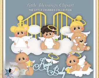 Baptism Clipart, Baby,  Angel, Chubbies, Little Blessings
