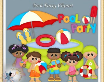 Summer Clipart, Pool Party
