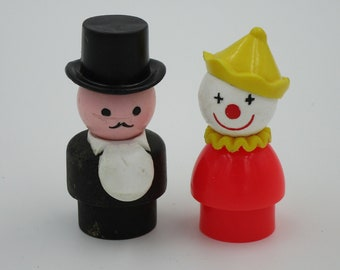 LITTLE PEOPLE Circus People, Little People clown, Little People Ring Master, circus figures, circus toys, Little People circus toys, retro