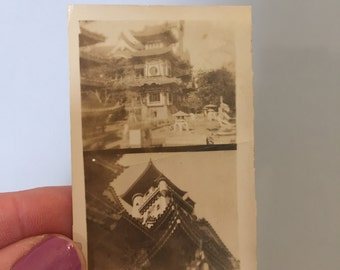 CHINESE ARCHITECTURE PHOTOGRAPH, Vintage photograph, picture from China, Picture of Chinese buildings, architectural photograph, black white