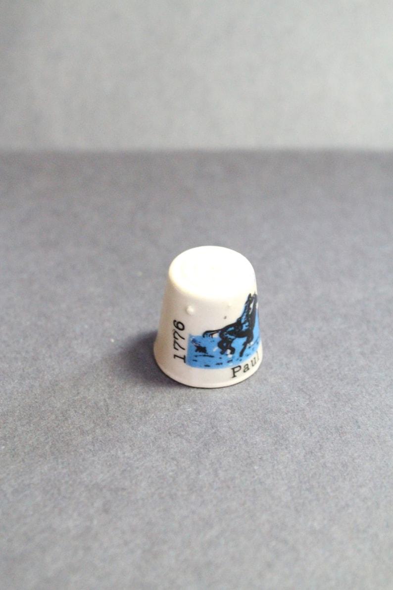 vintage souvenir PAUL REVERE Thimble gift for collector vintage keepsake famous American thimble Vintage Collectible Ceramic Thimble