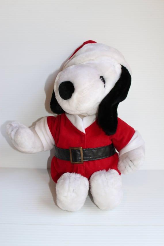 Snoopy Santa Claus Peanuts Plush Vintage Peanuts Character Etsy