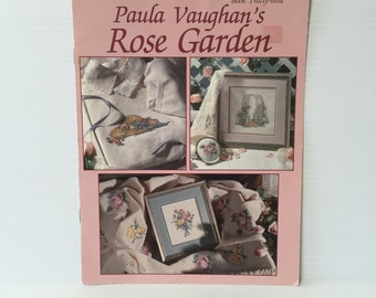 PAULA VAUGHAN ROSES Counted Cross Stitch Pattern, rose garden cross stitch pattern, cross stitch pattern roses, counted cross stitch pattern