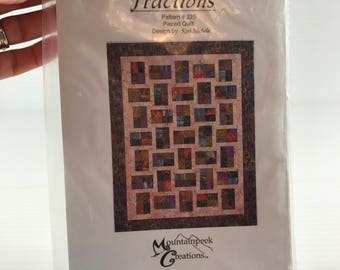 QUILT PATTERN, Fractions quilt pattern, pieced quilt pattern, quilt sewing pattern, pieced sewing pattern, quilt pattern for her, craft