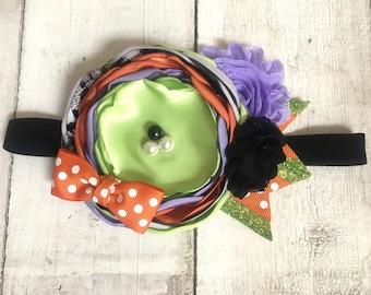 Fall Halloween Headband MTM Caroline Kate