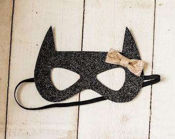 Batgirl Glitter Mask For Infant Child Or Adult