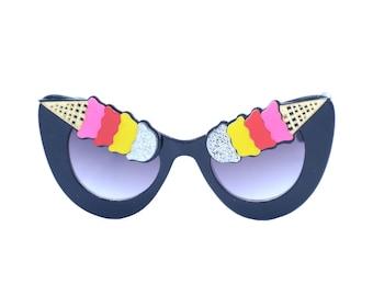 46bc67c1b3c Ice Cream Cone Sunglasses