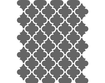 image regarding Free Moroccan Stencils Printable named Geometric Stencils Template For Composing Canvas Do-it-yourself decor