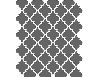 Moroccan Stencils Template For Crafting Canvas Diy Decor Wall Etsy