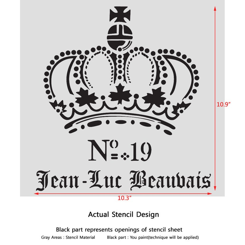 Jean Luc Beauvais Vintage Stencil for Painting Signs Crafting DIY Wall decor