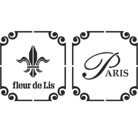 Fleur De Lis Paris Stencil Reusable Template For Crafts Wall