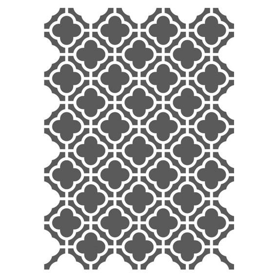 Marokkanische Schablonen Vorlage kleinen für Handwerk