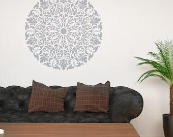 Mandala Stencil Tribal Pattern Surat for DIY Wall Decor Modern Home Decorative Stencils
