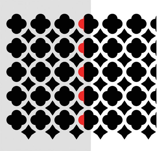 WALL STENCILS Moroccan Tiles Allover Airbrush LARGE Size STENCIL for DIY decor