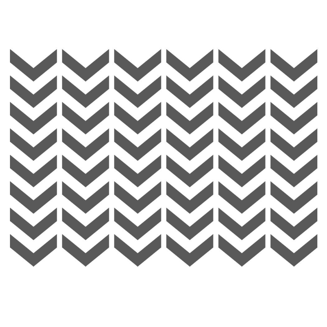 Chevron Stencils Template Small Scale For Crafting Furniture Etsy