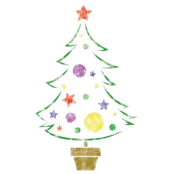 Christmas Tree Stencils: STENCILS TEMPLATE Christmas Tree Medium Size Reusable