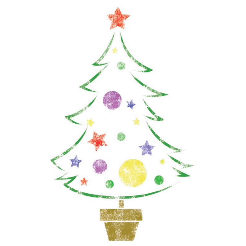 Stencils Template Christmas Tree Medium Size Reusable Etsy