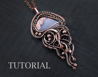 Jellyfish pendant tutorial  Wire wrapped jewelry Wirewrap pendant tutorial PDF Jewelry making tutorial DIY project Wirewrap jewelry lesson