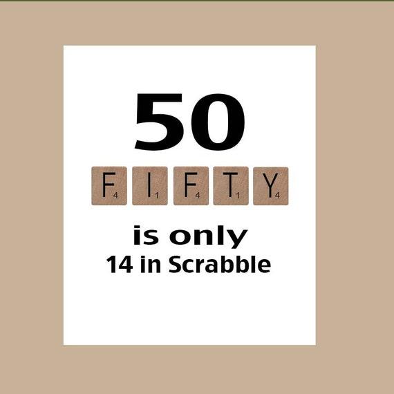 50th Birthday Card Milestone Birthday Scrabble Birthday Etsy
